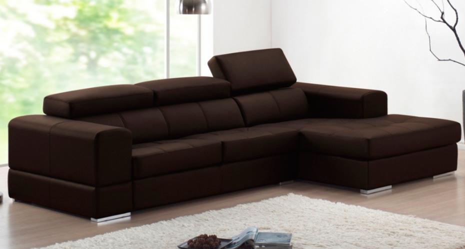 Sofá deslizable 4 plazas de piel