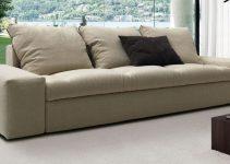 Sofá 4 plazas de tapizado en tela