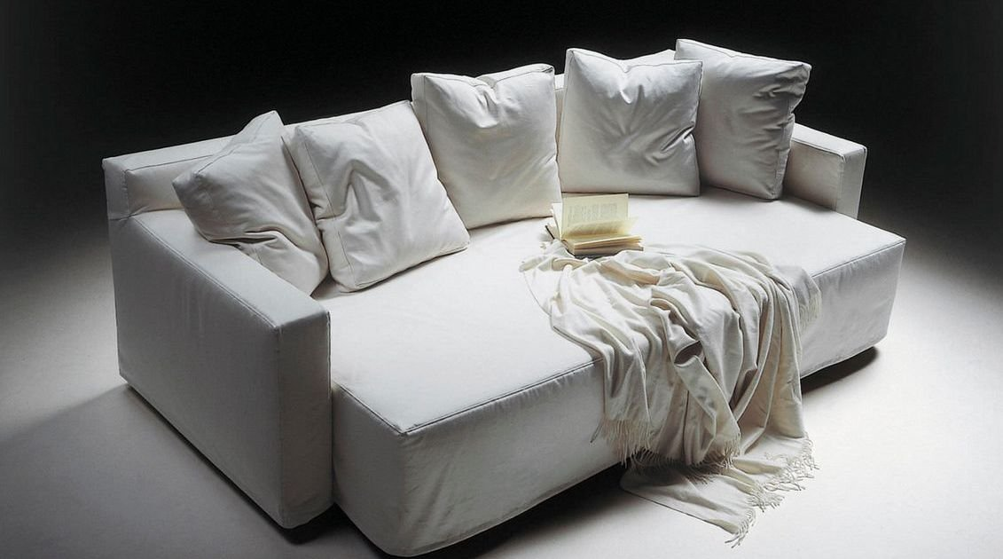 Sofá 4 plazas deslizante de piel
