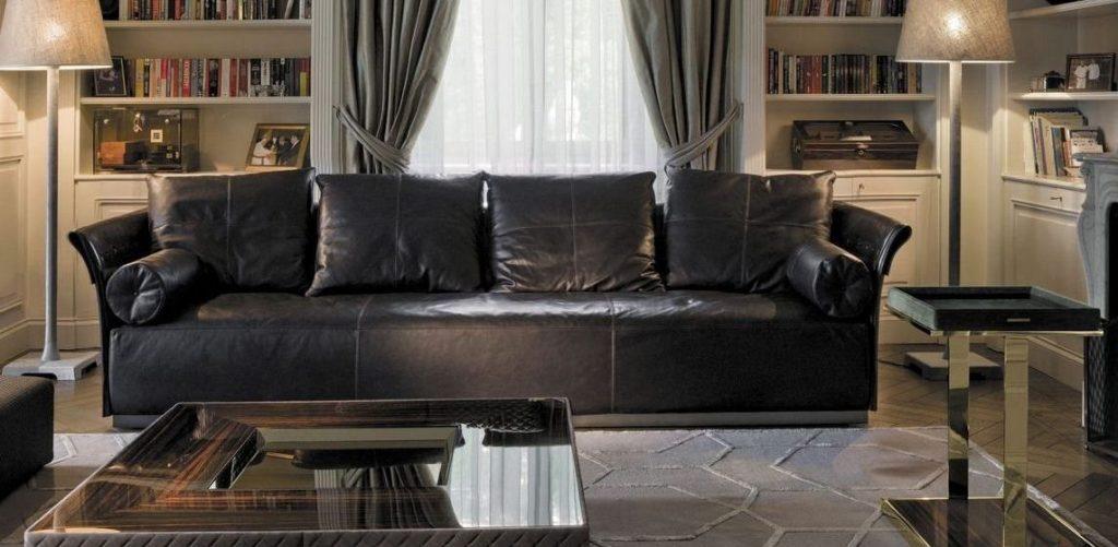 Sof 4 plazas tapizado en piel im genes y fotos for Sofa 4 plazas asientos deslizantes