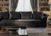 Sofá 4 plazas tapizado en piel