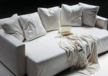 Sofá cama 4 plazas tapizado blanco