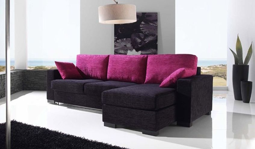 Sof s 4 plazas con chaise longue for Sofas de piel con cheslong