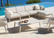 Sofá chaise Longue 4 plazas de exteriores