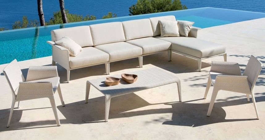 Sof chaise longue 4 plazas de exteriores im genes y fotos for Sofa 4 plazas mas chaise longue
