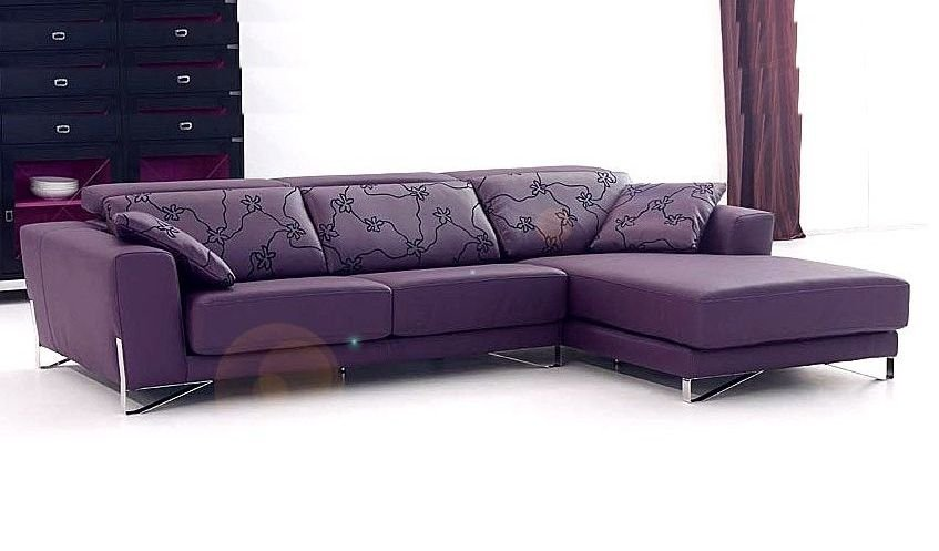 Sof s 4 plazas con chaise longue for Sofas de piel economicos