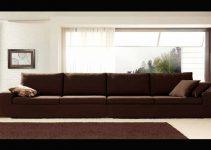 Sofá de cuero con mecanismo deslizante