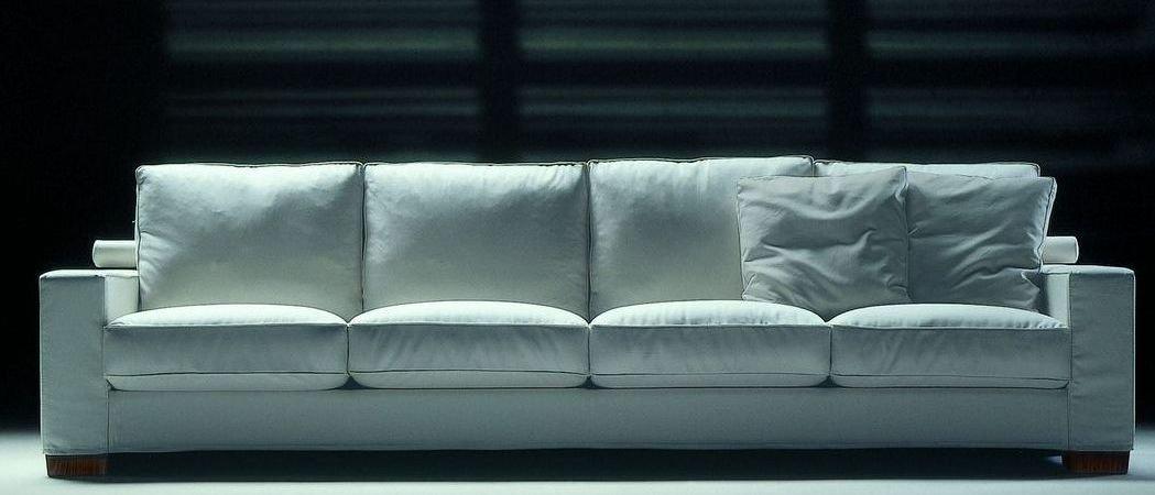 Sofá de cuero de 4 plazas relax