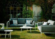 Sofá de jardín 4 plazas de tela