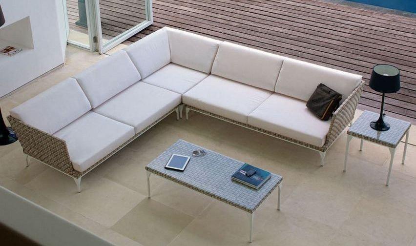 Sof s 4 plazas con chaise longue for Sofa modular jardin