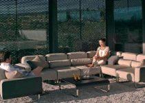 Sofá para decorados exteriores 4 plazas