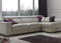 Sofá tapizado en cuero de 4 plazas