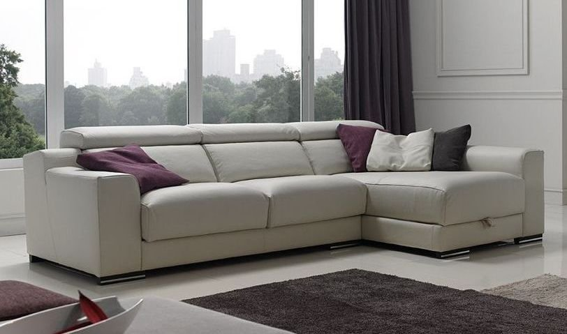 Sof s 4 plazas de piel for Sofa 4 plazas mas chaise longue